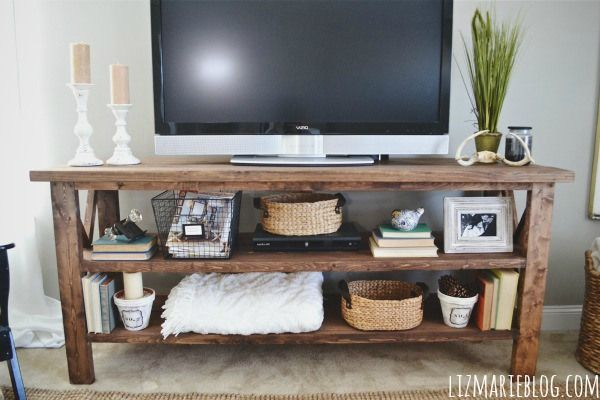 17 best ideas about rustic tv stands on pinterest rustic tv console small tv stand and. Black Bedroom Furniture Sets. Home Design Ideas