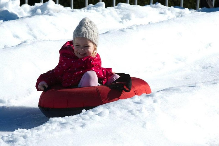 Snow Time in the Hunter Valley Gardens - Toboggan