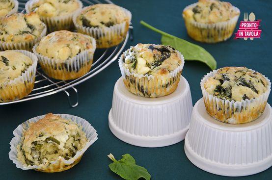 Muffin agli spinaci e feta