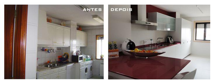 Remodelação cozinha. Projeto da autoria da arquiteta Paula Tinoco, Gaape