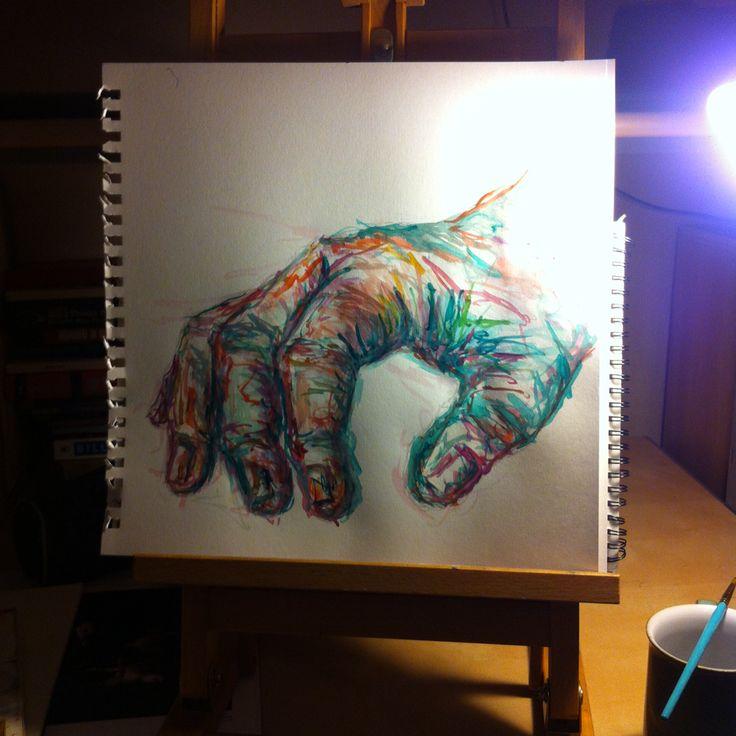 Study of hands...