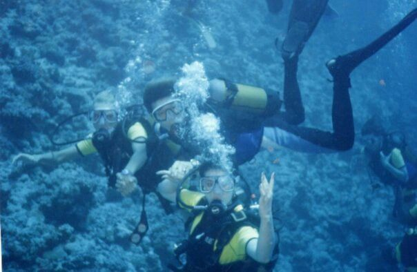 My diving with friends on the Maldives
