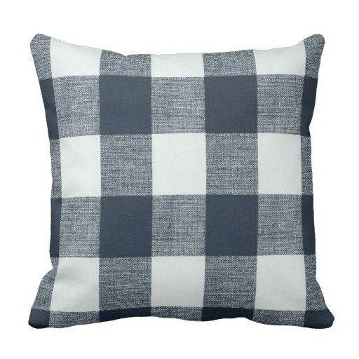 Plaid Pillows,Steel Blue Pillows, Spring Pillows, buffalo check Pillow Cover, Couch Pillows, decorative pillows,Blue Throw Pillows
