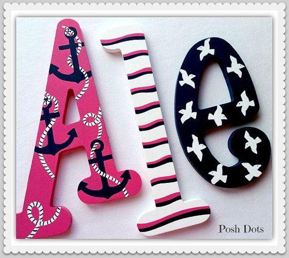 Custom Nursery Letters Baby Girl Nursery Decor Wall by PoshDots