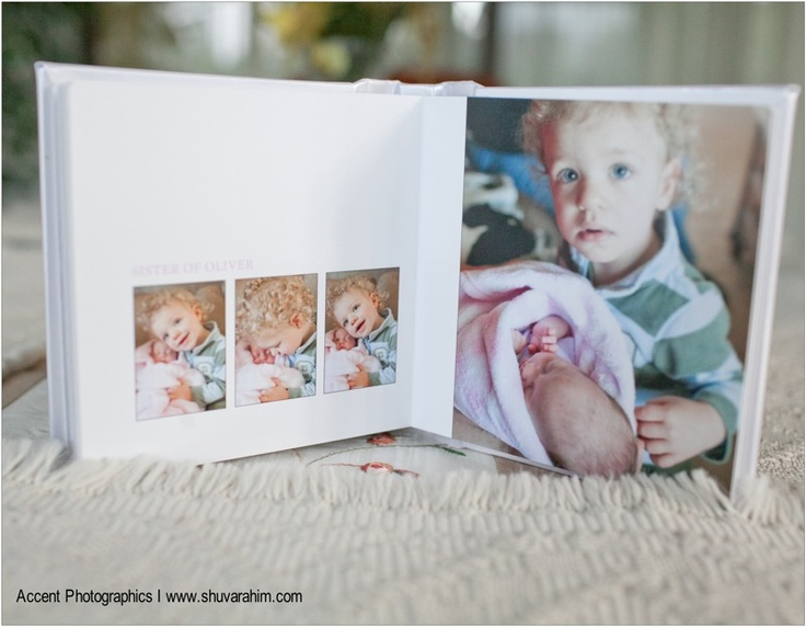 Newborn album layout