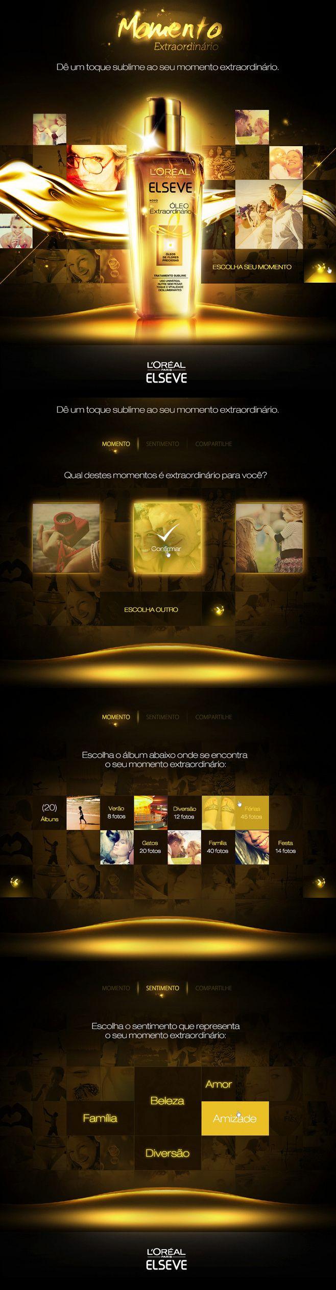 L'Oreal Momento Extraordinário | #webdesign #it #web #design #animation #layout #userinterface #website #webdesign repinned by www.BlickeDeeler.de | Visit our website www.blickedeeler.de/leistungen/webdesign