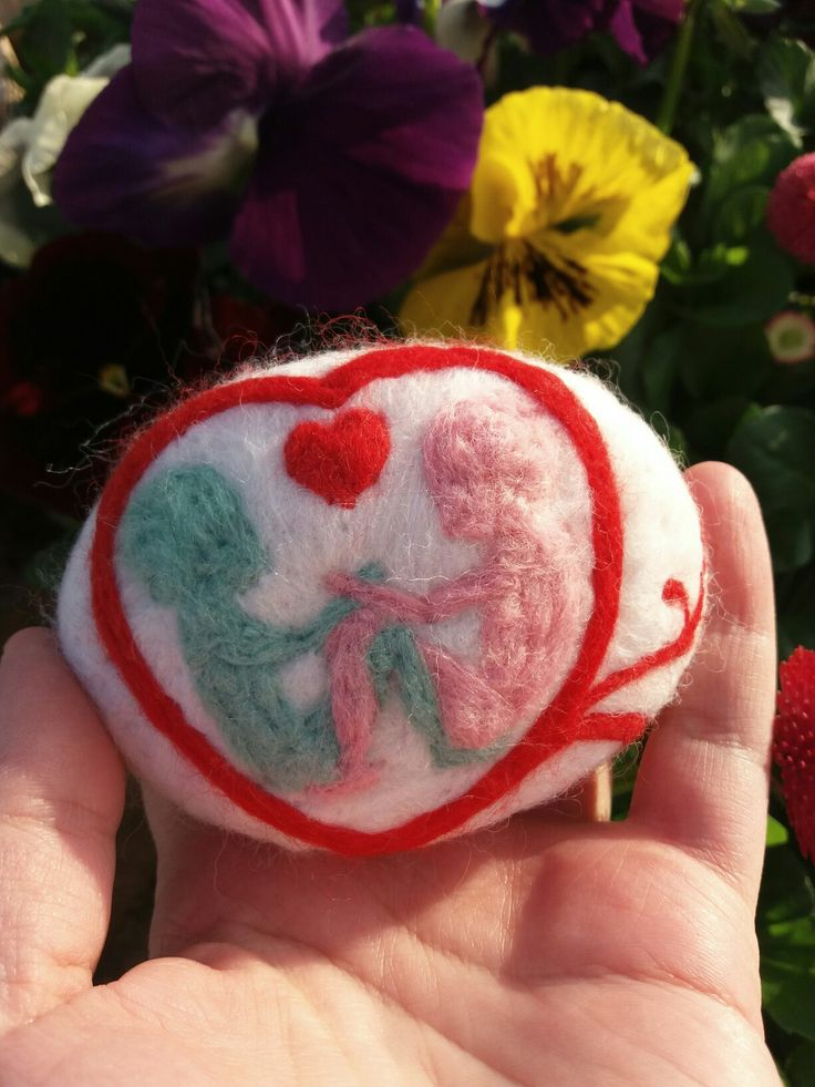 Felted soap twin baby brother