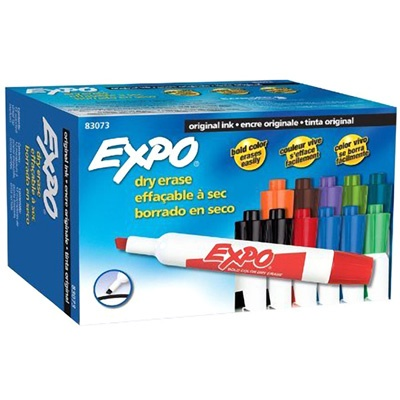 Expo Chisel Dry Erase Markers - 12 Count