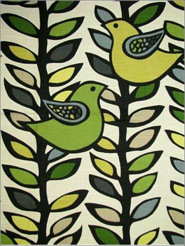 Scandinavian Retro Modern Folk Art Linen Texture Heavy Cotton Drapery Fabric - Loom Exquisite Textiles