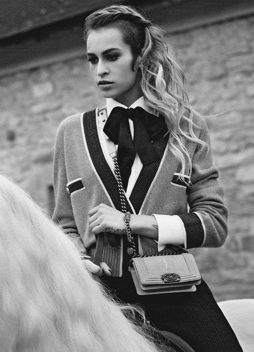 Alice Dellal for Chanel Boy Handbags S/S 2013*