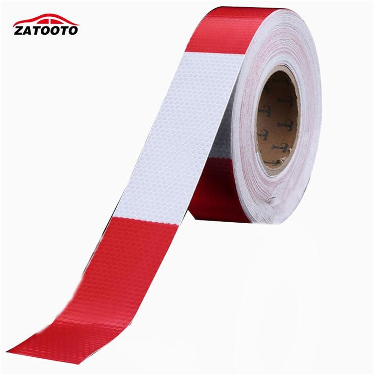 ZATOOTO 45m*5cm Red White Warning Sign Hazard Tape Flim Reflective Safety Warning Conspicuity Tape Accessories