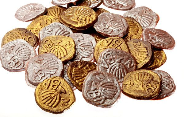 Chocolate Hanukkah Coins for Adults -new Veruca chocolate disks
