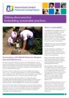 Newsletter 67: Talking about practice: Embedding sustainable practices