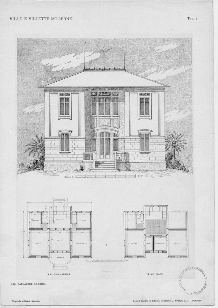 Villas And Modern Houses Plans And Sketches Makes