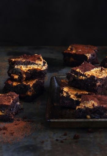 NOMU Peanut Butter Swirl Chocolate Brownies