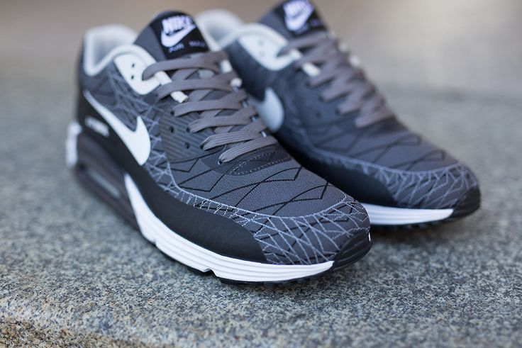 size 40 f7b94 affae Nike Air Max Lunar90 Womens Wolf Grey Black Anthracite Green Aby