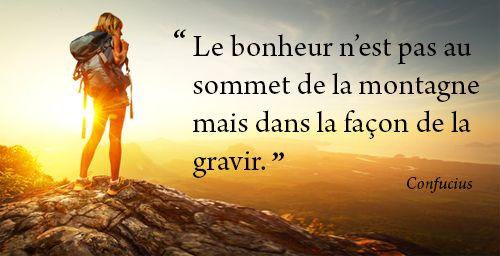 Le bonheur n est pas au sommet de la montagne mais dans - Le bonheur est dans la poele ...