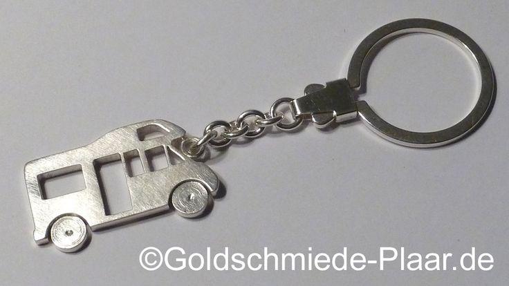 Schlüsselanhänger Wohnmobil  handarbeit in Silber #handmade #silver