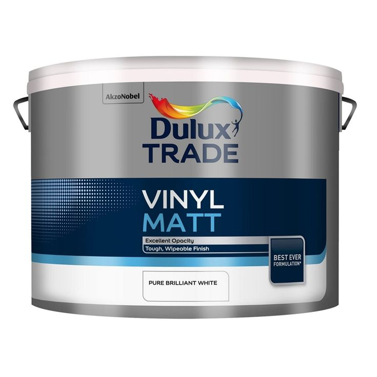 Find Dulux Trade Vinyl Pure Brilliant White - Matt Emulsion Paint - 10L at Homebase. Visit your local store for the widest range of paint & decorating products.