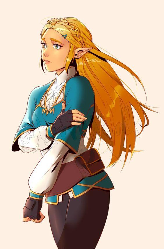 Princesa Zelda Breath of the Wild Arte