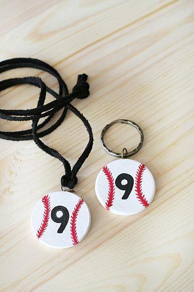 DecoArt Blog - Project - DIY Baseball Necklace