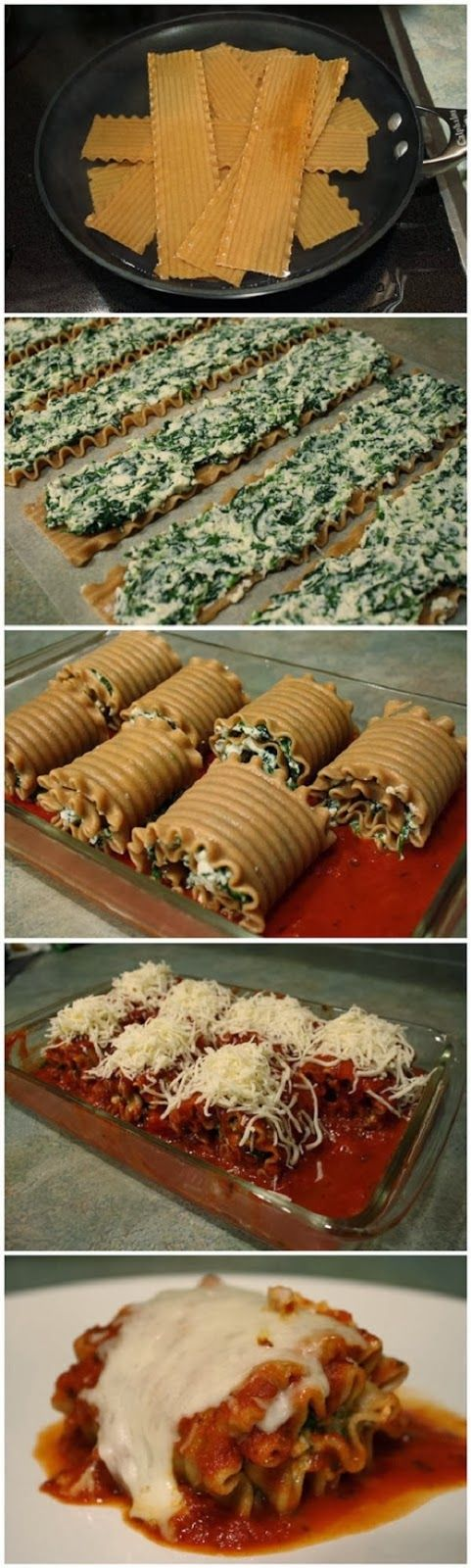 Skinny Lasagna Rolls ~ Focuseat
