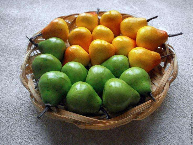 Купить Груша, 35 мм, топиарий, декор, пенопласт, 10 шт. - фрукты, искусственные фрукты