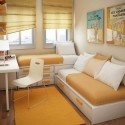 Cool And Modern Small Floorspace For Twin Kids Rooms 2012