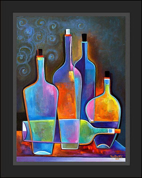Il s'agit d'une peinture à l'huile originale par Marlina Vera.  TITRE: «vin cubiste»  PRIX: 400 $  TAILLE: 18 x 24 x 3/4  MÉDIUM: Huile sur toile. Bordure noire, il ne fait pas partie de la peinture. Côtés sont sans agrafe et peint en noir.  Frais de port: $25,00 via FEDEX ground. Coût expédition internationale est de 35,00 $ forfaitaire.  MODES DE PAIEMENT: PayPal est la méthode préférée de paiement. J'accepte aussi les: Caissiers chèques, mandats, mandats internationaux payables…