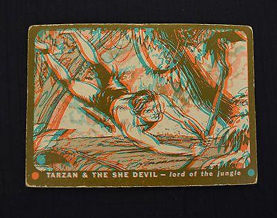 Tarzan & The She Devil 3-D Trading Cards Complete Set 60 3D Glasses 1953 Topps