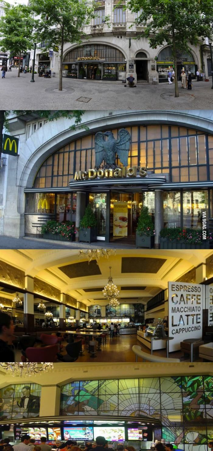 McDonald's Imperial in Porto is the most beautiful in the world. Gettin' fat with class.