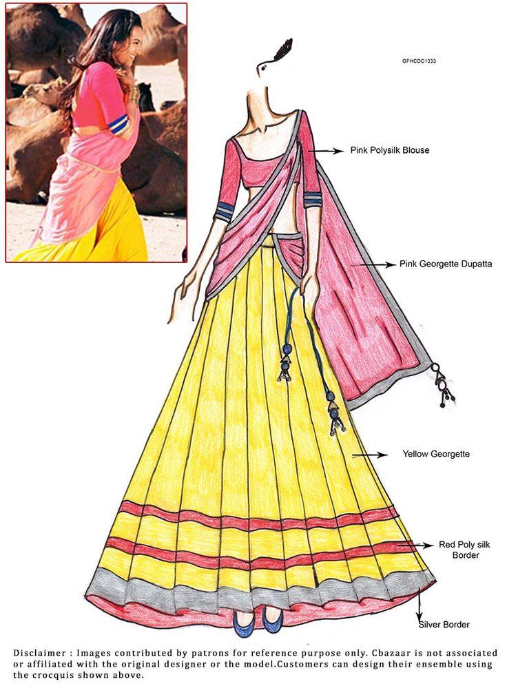 DIY Sonakshi Sinha Yellow Lehenga Choli