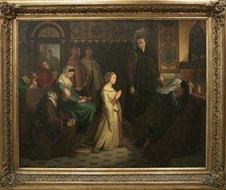 Josef Mánes - Setkání Petrarcy s Laurou (1842-46, NG Praha)