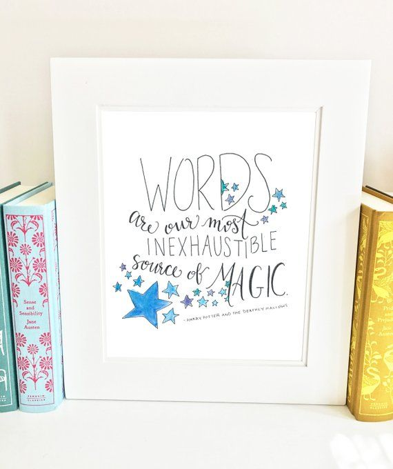 harry potter quote print dumbledore quote girls room decor