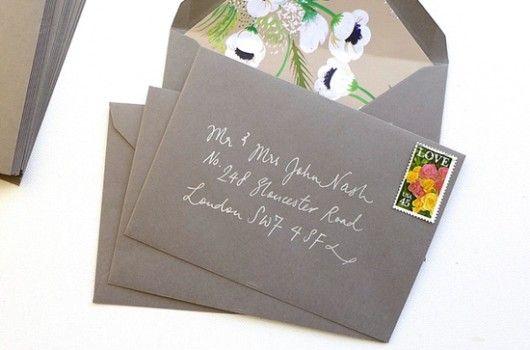 Proste adresowanie kopert – DIY ‹ Magnolia Weddings