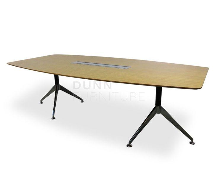 Python Boardroom Table in Oak – Dunn Furniture