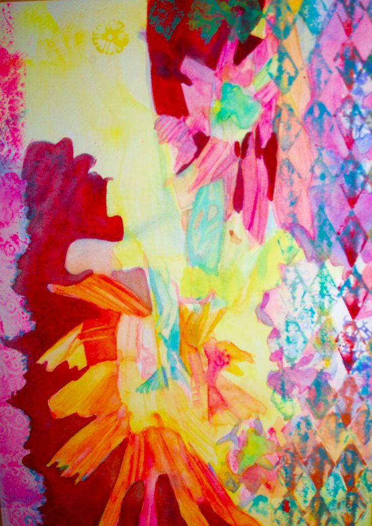 "Watercolour ""Days Sparkle"""