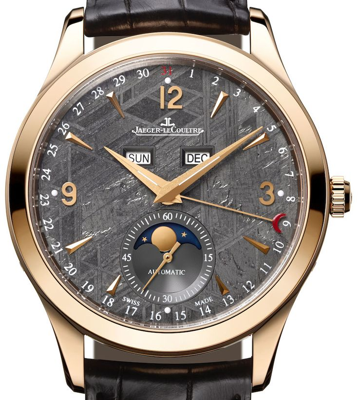 """Jaeger-LeCoultre Master Calendar Meteorite Dial Watch To Debut At SIHH 2015 - by David Bredan see more about Jaeger-LeCoultre's upcoming release on aBlogtoWatch.com """"It was at SIHH 2013 that Jaeger-LeCoultre presented its Master Calendar, a highly legible calendar watch that was inspired by a similar model the manufacture made around 1945. It offered the date, day, month, and phase of the moon indications on a nicely laid-out and, indeed, very restrained-looking dial..."""""""