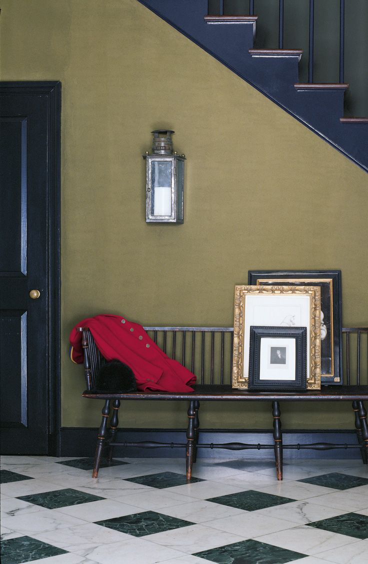 Enhance An Understated Entryway With A Sophisticated Palette Like Ralph Lauren Paint S French Khaki And