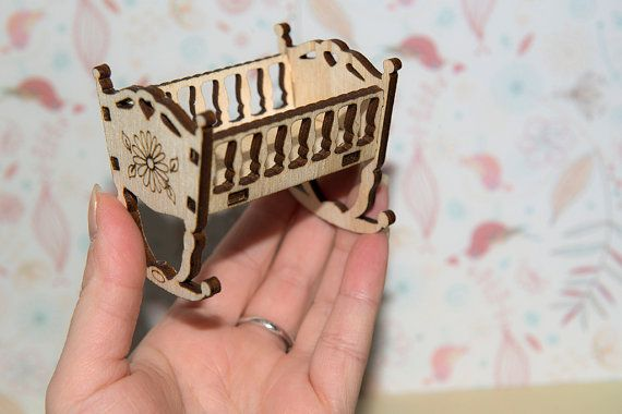 Plywood Cradle Crib for Exploding Box Baby Shower  by CraftbyKate7