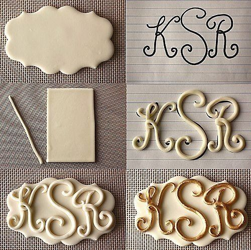 ♥ Fondant Letters: Cake Tutorial, Idea, Cakes, Fondant Cake, Cake Decorating