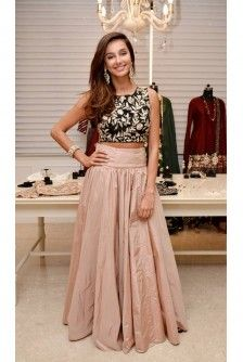 Payal Singhal Indian Wear Collection : SHIBANI CROP TOP AND SKIRT