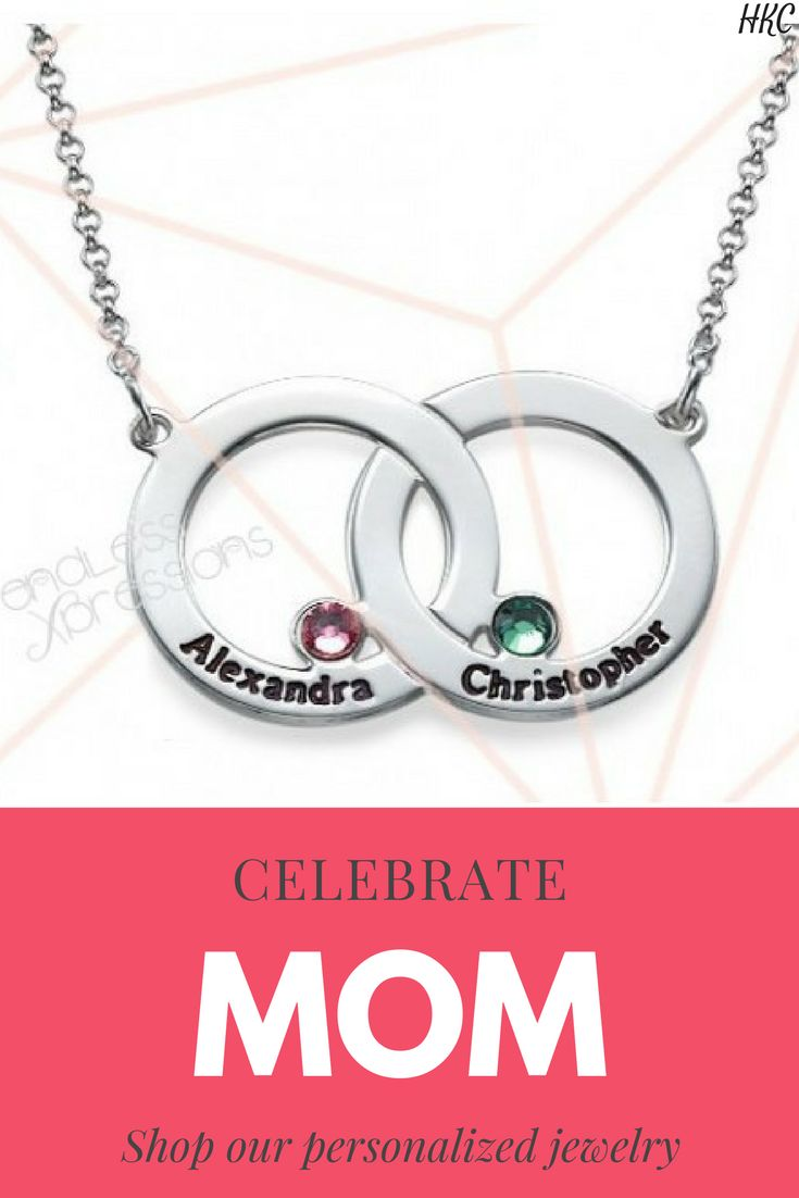 .925 Silver Interlocking Circle Necklace . personalized jewelry for moms