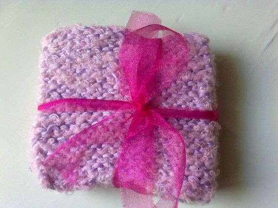 Pink / purple set coaster set of 4 by KaterinakiJewelry on Etsy