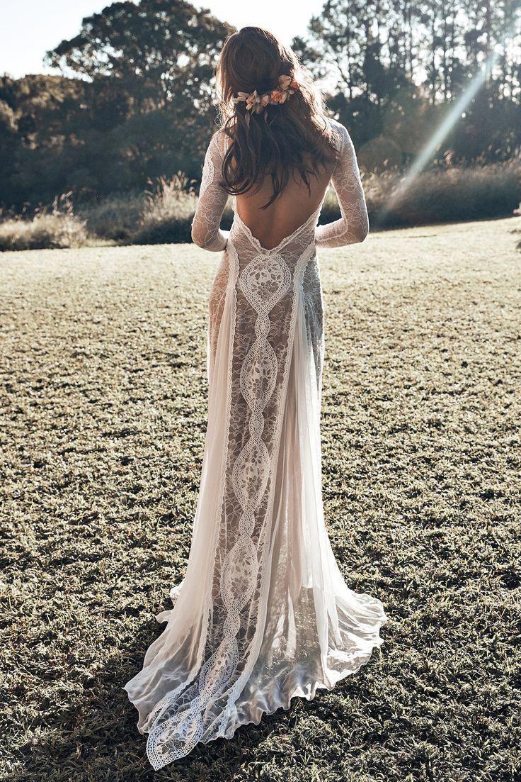 Inca Gown Low Back Wedding Dress Grace Loves Lace Illusion Wedding Dress Wedding Dresses Lace Dresses