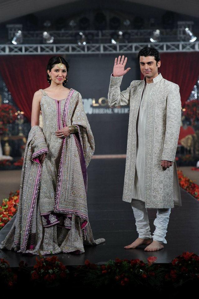 Mahira Khan and Fawad Khan for Umar Sayeed fashion show    loveeeee    #Pakistan #Humsafar