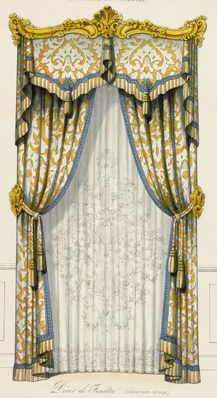 Curtain Styles: 303 Best Images About Historic Window Treatment And Bedding Illustrations On Pinterest