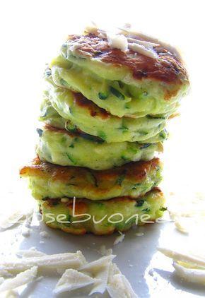 Zucchini Fritters with Ricotta Salata by cosebuonediale #Fritters #Zucchini #Ricotta_Salata