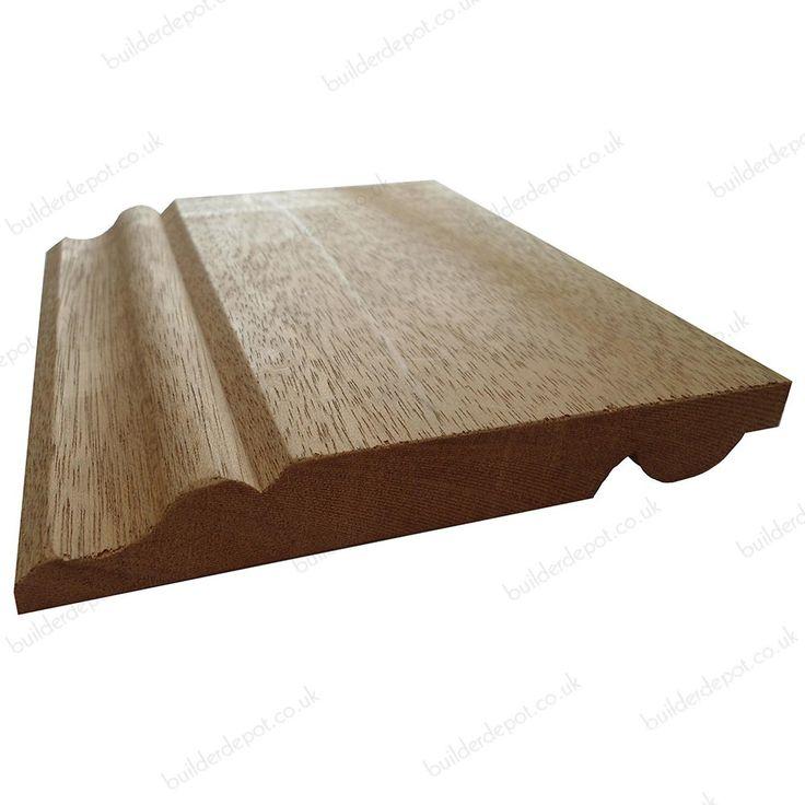 Reversible Skirting Board 20mm x 140mm Ogee-Torus Meranti Solid Hardwood