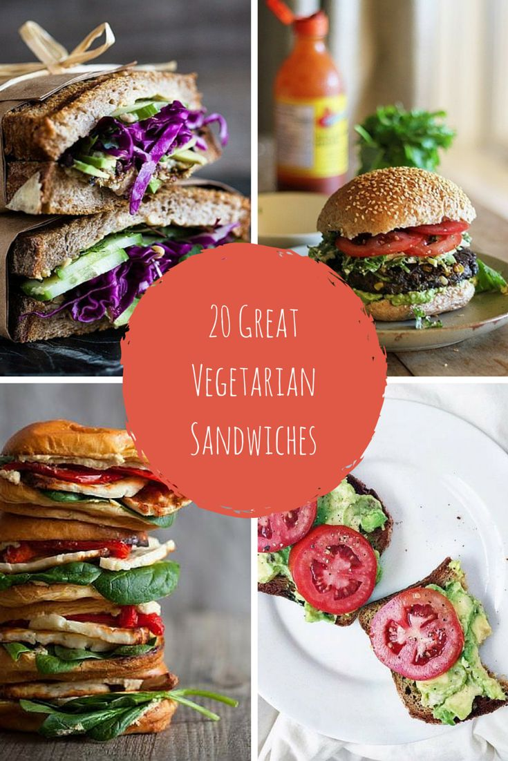 20 vegetarian sandwiches to make lunch hour happy hour.